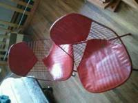 Set of 2 Red retro chairs. If you can pick them up call
