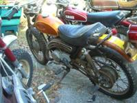 Vintage Honda Elsinore MT125 (1973), missing kick