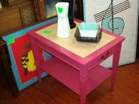 This end table or nightstand is so cute|1 rack, 1