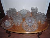 VINTAGE GLASS, ALL in excellent condition, no chips, no