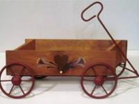 One of a kind Vintage Handcrafted 3D Wooden Wagon -