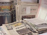 FOR SALE IS A BIG LOT OF VINTAGE HAWAIIAN NEWSPAPERS,