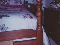 King-size bed frame. Headboard and footboard.