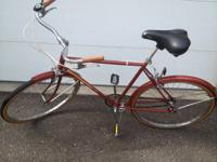 old school english racer style bike--decent shape, all