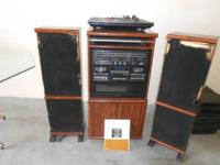 A JCPENNEY 5 MODE STACKING STEREO SYSTEM. MODEL 1988