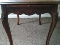 Vintage Kindel Table with side pullout drawers. Made of