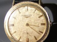 Vintage men's watch, maker is Longines, the watch works