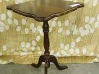 In good shape... Nice vintage pedestal table... Call or