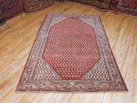 # 54764 4' 3 x 6' 4 pure wool hand knotted in Iran