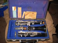 CLASSIC! Reynolds Emperor Clarinet HARD INSTANCE. VERY