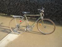 This bicycle is vintage from the 1980's. It has some