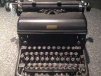 This is a vintage Royal manual typewriter that is heavy