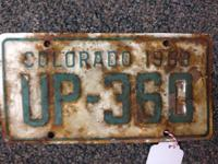 For the collector or enthusiast! Colorado vanity plate,