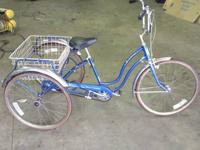 24 inch schwinn tri-wheeler town & country 3 speed,real