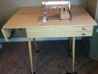 Vintage Singer sewing desk/craft table. Will house a