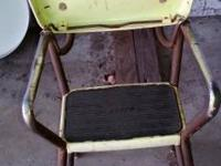 Vintage chair that's turns into a step stool.  20.00