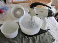 Sunbeam Mixmaster including the original large and