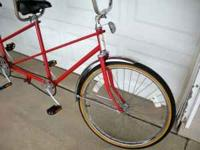 "Vintage Tandem Cruiser Bike. Single Speed. 20"" Frame."