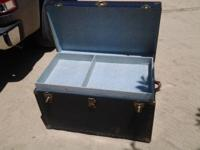 "Vintage ""Vacationeer"" Trunk. (Made in Petersburg, Va."