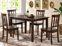 VINYARD DINING TABLE SET *Made of solids and veneers *