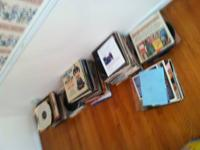 This is a fine old collection of 218 old vinyl records,