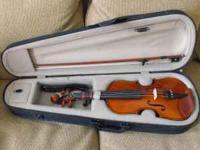 3/4 size violin, excellent condition. Includes case.