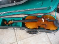 Skylark Violin - $200 -includes bow and case -bow needs