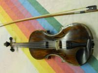 Here we have a very old violin { Dominicus Gabriell }