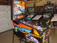 This is a nice Viper Night Drivin' pinball machine that