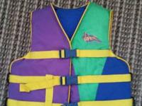 Viper Stearns Life Jacket,  50-90 lbs. Be ready for