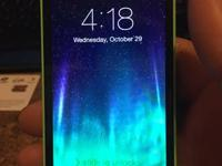 For sale iPhone 5c for Virgin Mobile Color: Green Size: