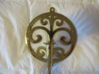 Solid brass wall sconce candle holder made by Virginia