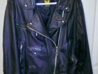 Virginia Slims V Wear Black Leather Bikers