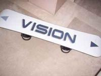 Vision 158 snowboard w/ Salomon bindings. Made in