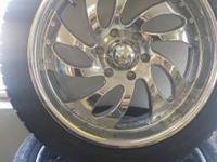 "Vision 20"" Chrome Rims These are 6 lug, not sure of the"