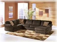 3 Piece Sectional in your choice of Chocolate or