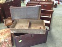 Vintage Trunk w/ removable tray    Please Visit Home to