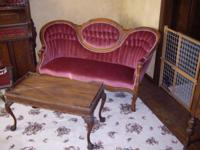 STUNNING antique (NOT REPRODUCTION) cameo settee and