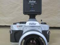 Vivitar v4000 35-70mm Lens with Electronic Flash. Up