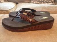 For Sale: New Volatile Sandals- sz 9, Chocolate color,