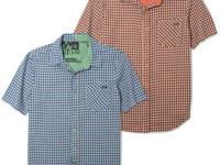 Versatile check shirt by Volcom with single chest