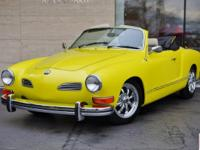1974 Volkswagen Karmann Ghia Convertible in Yellow with