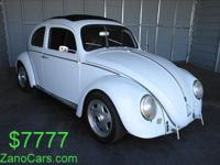 Classic 1962 Volkswagen Beetle in Mint conditon. This