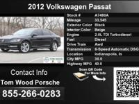Call Tom Wood Porsche at  Stock #: A7480A Year: 2012