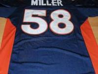 Von Miller Denver Bronco Size 50 Large Blue Jersey with