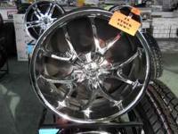 Voodoo Chrome 22 Inch Wheels 22x9 Bolt Pattern 6x5.5