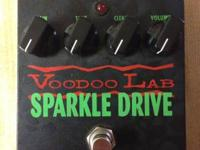 Voodoo Lab Sparkle Drive Overdrive Pedal.  USED, BUT