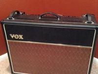 VOX AC30CC2X Combo amp with Blue Celestion speakers.