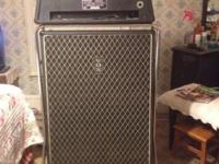 1966 Vox Super Beatle Amp, cabinet and rack. Excellent