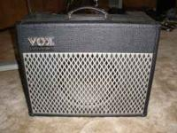 Vox AD50VT 50 watt modeling amp. This thing screams.